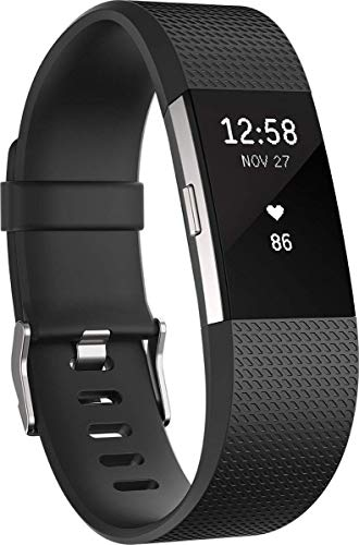 Fitbit Charge 2 Heart Rate + Fitness Wristband, B...