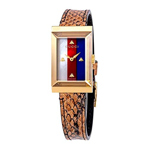 Gucci G-Frame Mother of Pearl Dial Ladies Leather...