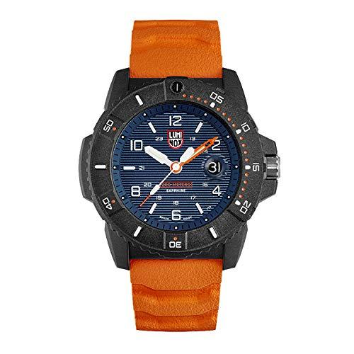 Luminox Navy Seal Mens Watch Blue Display Orange ...