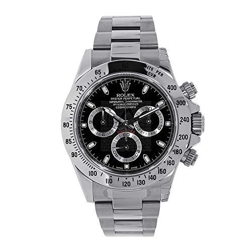 Men's Rolex Cosmograph Daytona Black Dial 40mm Me...