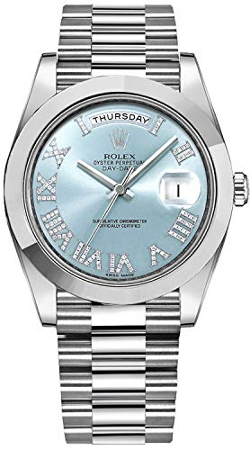 Men's Rolex Day-Date Platinum 41mm Watch with Dia...