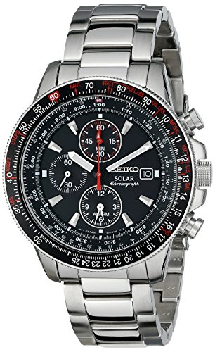 Seiko Men's SSC007 Stainless Steel Watch with Lin...