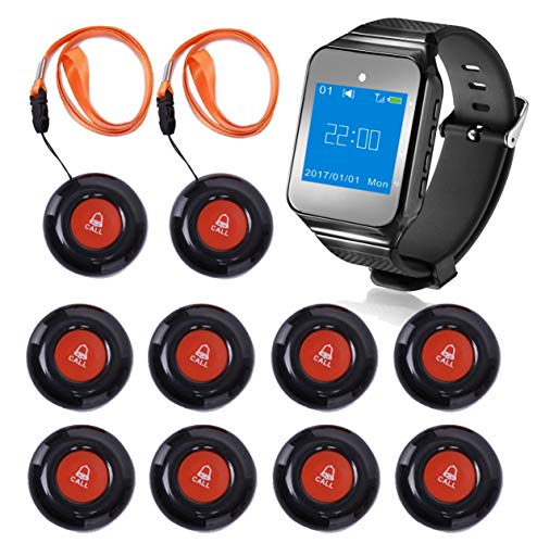 CallToU Wireless Wrist Pager Smart Call System Ca...
