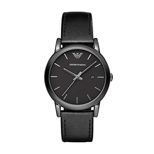 Emporio Armani Men's AR1732 Dress Black Leather W...