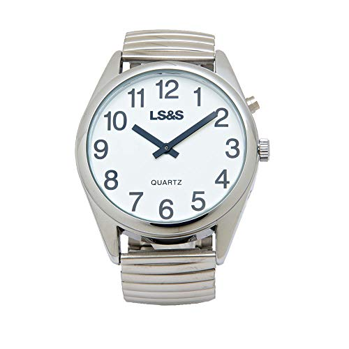 Extra Large One Button Talking Watch-Silver