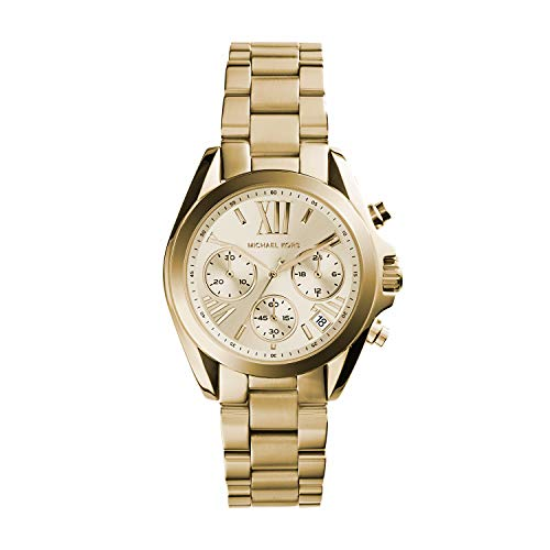 Michael Kors Bradshaw Gold Dial Gold Tone Stainle...