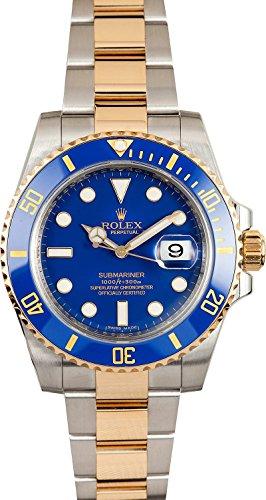 Rolex New Submariner 116613 Yellow Steel Gold Cer...