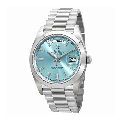 Rolex Oyster Perpetual Day-Date Ice Blue Baguette...